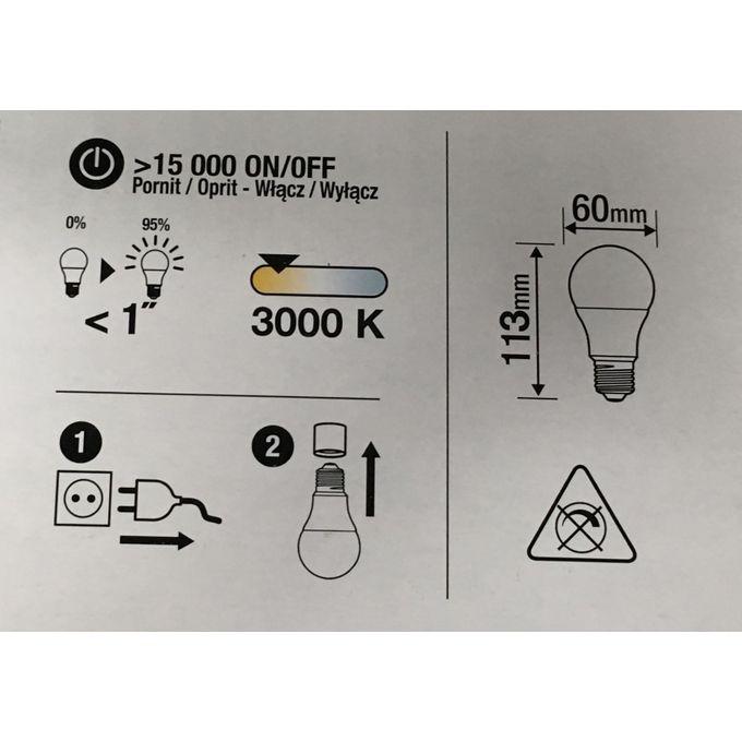 6 Ampoules Led Culot E27 à Vis 9w équiv 60w 3000k Lumière Chaude