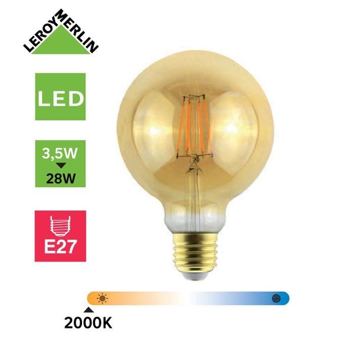 Ampoule Led Filament Globe à Vis E27 Diam 95cm 28w Led