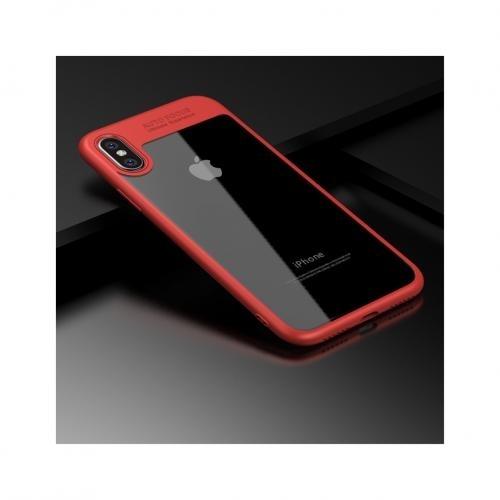 coque iphone x contour rouge