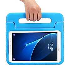 for samsung galaxy tab a 10.1 / t580 eva bumper protective case with handle and holder (blue)