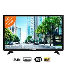 tv led slim - 19''- noir - full hd - 1080 - 1xhdmi - 1xusb - av -12 mois de garantie