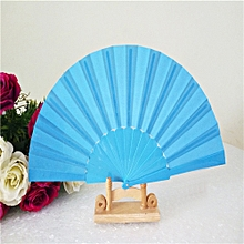 jiahsyc pattern folding dance wedding party lace silk folding hand held solid color fan