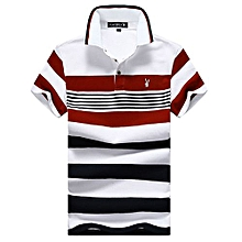 b945c262629d Polo Class Manches Courtes A Rayure Pour Homme - Rouge   Blanc