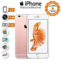 iphone 6s - 4.7 pouces - 4g lte - 64go rom- 2go ram- 12mpx - or rose + protège offert- reconditionné - garantie 12 mois