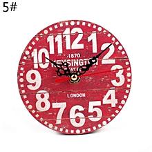 réveil rétro créative salon chambre petite horloge murale horloge ronde n° 5