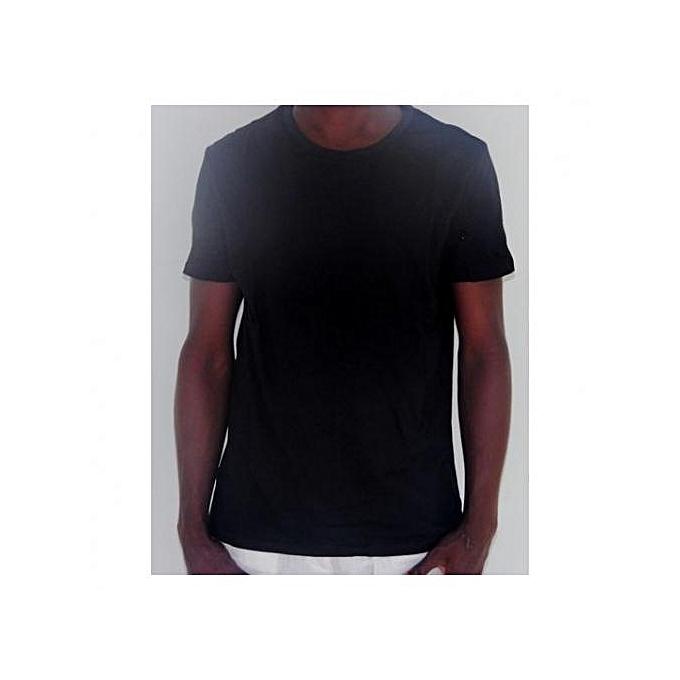 e11feb76629 Chase Deer T-shirt Uni - Noir - Prix pas cher