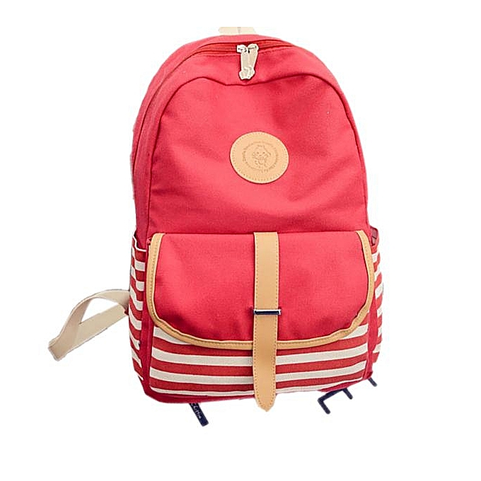 NeworldlineWomen Fashion Canvas Travel Satchel Shoulder Bag Backpack  RD- RedSacs à Dos    Côte d'Ivoire