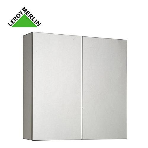 Armoire De Toilette à Suspendre - Larg 60cm - MODULO - Blanc - Garantie 2  Ans - Meuble Rangement Salle De Bain - 1 étagère