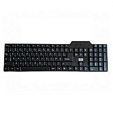 clavier azerty avec fil bout usb - noir