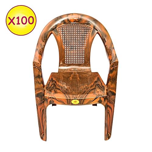 No brand lot de 100 chaises de c remonie plastique - Maison des enfants de la cote d opale ...
