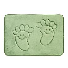 utile 40*60cm pieds doux tapis de bain en mousse à mémoire de plancher de chambre à coucher douche vert
