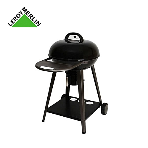 Leroy Merlin Barbecue Au Charbon De Bois Yutan Avec Couvercle Noir