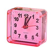 cristal carré montre réveil réveil bureau chevet rose réveil électronique
