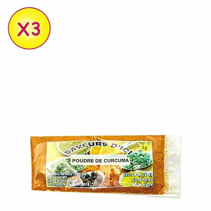 Poudre De Curcuma - 5 G X 5 - Multicolore