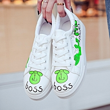 new stylish cartoon sports casual shoes schoolgirls' white shoes